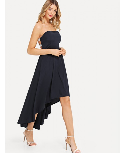 Asymmetric Hem Tube Dress