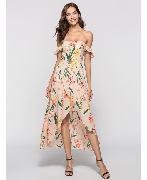 Floral Print Split Hem Dress