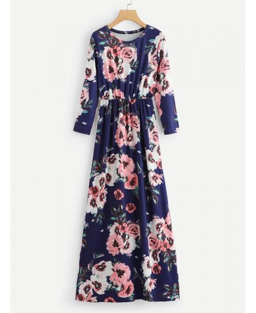 Allover Floral Print Dress