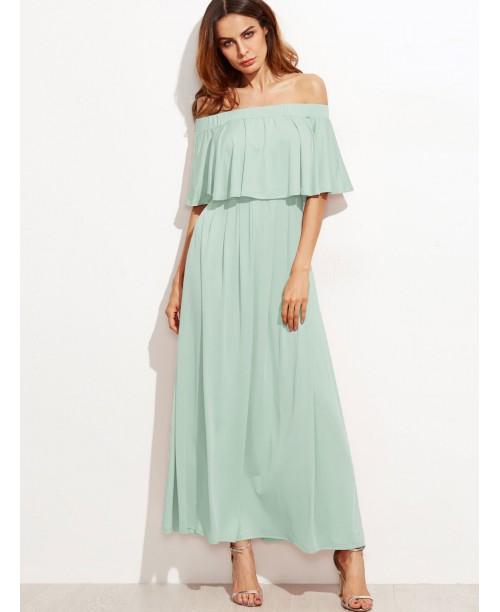 Double Neck Bardot Dress