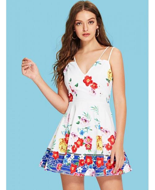 Double Strap Floral Cami Dress