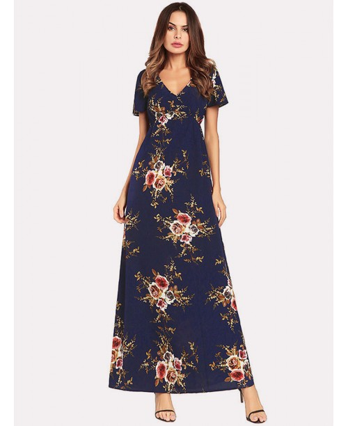 Flower Print Longline Dress