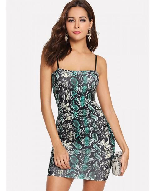 Snake Skin Print Cami Dress