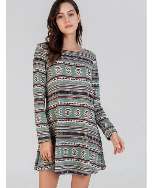Print Tunic Tribal Dress
